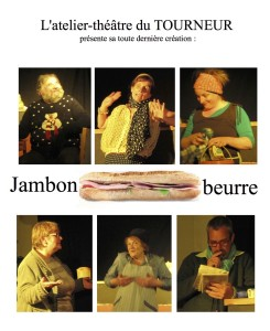 affiche jambon beurre - Vaudry